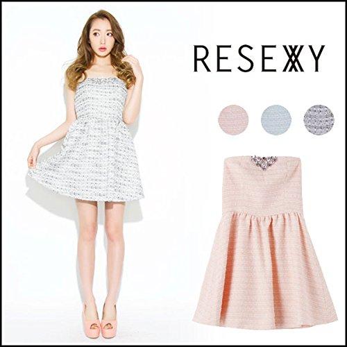 (リゼクシー) RESEXXY ビジューツイードベアフレアワンピース レディース ベアワンピース (151510385700)