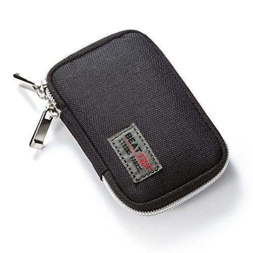 サンワダイレクト スマートキーケース 鍵 スマートキー収納 落下防止ポケット カラビナフック対応 ブラック 200-CAR039BK