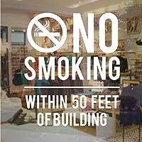 Mrlwy 建築看板の50フィート以内の禁煙 - 店のビジネスビニールデカールステッカーガラスドア窓ステッカー用店舗オフィス42×50センチメートル