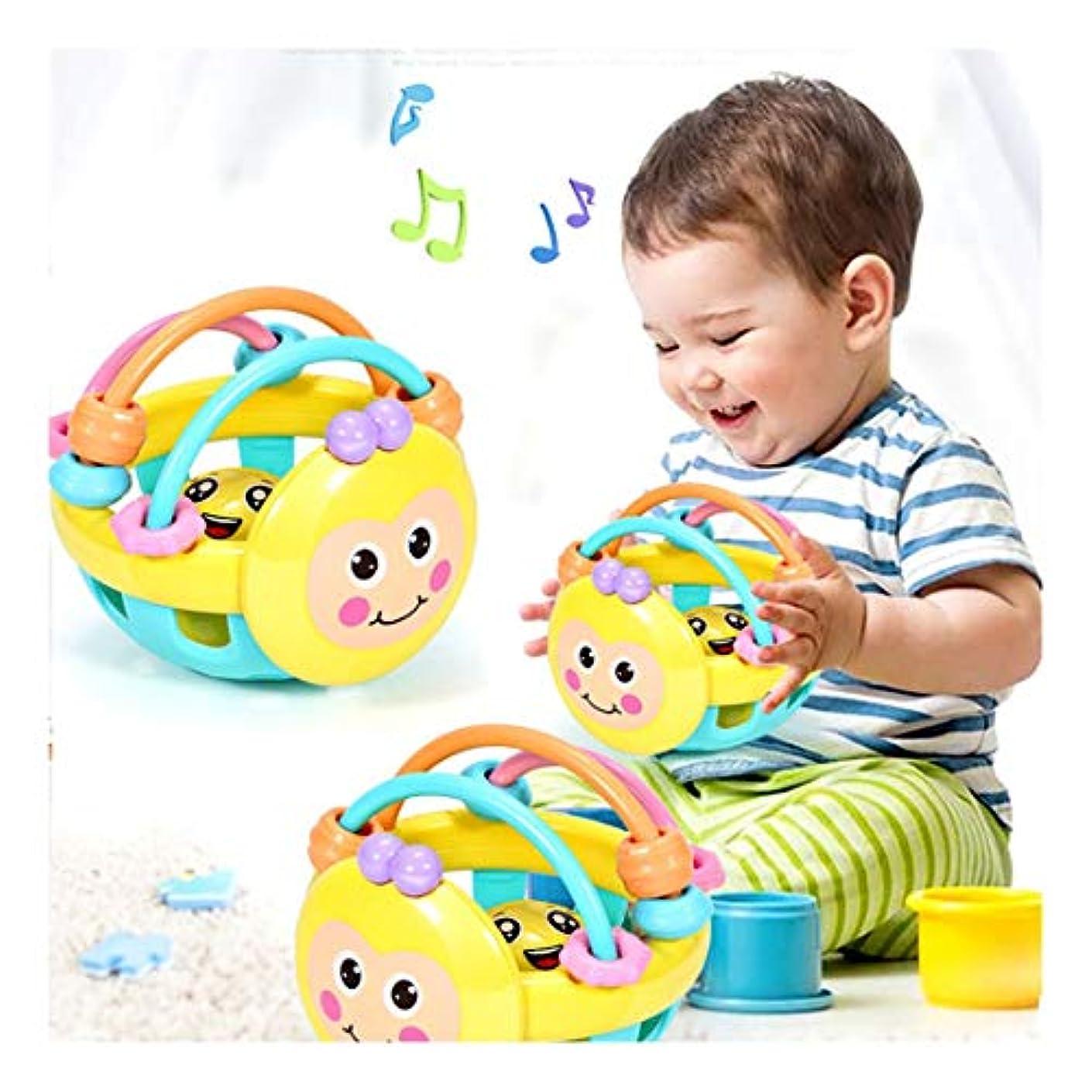 神学校集中的な商人Lumumi ソフトベビーラトルおもちゃ 幼児ベルラトルボールおもちゃ プラスチックハンドベル