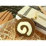食品サンプル屋 食品サンプル 携帯ストラップロールケーキ チョコホワイト02P03Dec16