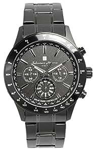 [サルバトーレマーラ]腕時計 ウォッチ 電波ソーラー クロノグラフ メンズ 限定モデル イタリアブランド アナログ表示 5気圧防水 SM14117 ブラック 【雑誌掲載モデル】