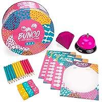 Bunco: ベリーソーシャルゲーム 12人用パーティーダイスゲーム ダイス スコアカード 鉛筆 ベル スクイーズ 旅行用ジュエル