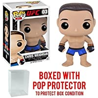 Funko Pop UFC Ultimate Fighting - Chris Weidman 03 Vinyl Figure (Bundled with Pop BOX PROTECTOR CASE)