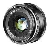 Neewer 35mm F/1.7大口径HD MC手動式固定レンズAPS-C Canon EF-Mマウントレンズ、EOS Mシリーズミラーレスカメラ M100/M10/M6/M5/M3/M2 に対応