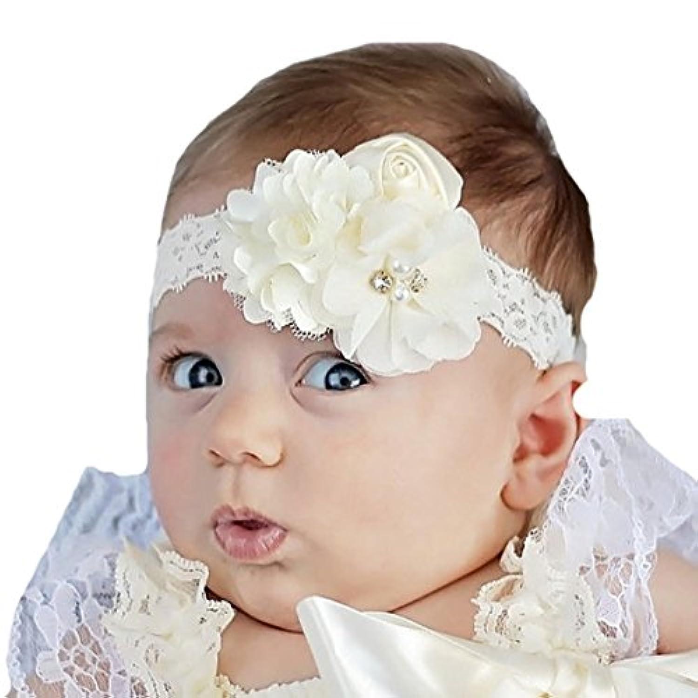miugleベビー女の子洗礼式ヘッドバンド赤ちゃん洗礼ヘアリボン