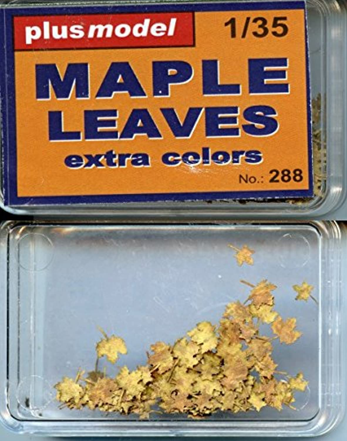 プラスモデル1 : 35 Maple leaves-extra Colors Paper Diorama Accessory # 288