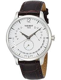 [ティソ] TISSOT 腕時計 トラディション パーペチュアルカレンダー クォーツ シルバー文字盤 レザー T0636371603700 メンズ 【正規輸入品】