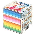トーヨー 折り紙 千羽鶴用 プラケース付き 7.5cm角 20色 1000枚入 002004