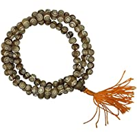 The Bo Tree Fair Trade Carved Yak Bone 108 Japa Mala Beads Hand Made in Nepal Buddha Buddhist Meditation Hindu