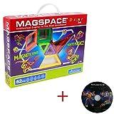 MAGSPACE 62 Piece Set デザイナーセット 想像力を育てる知育玩具 (ガイドDVD付き) [並行輸入品]