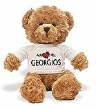 [テディベアぬいぐるみ]Adopted By TB1 GEORGIOS Teddy Bear Wearing a Personalised Name T-Shirt[並行輸入品]