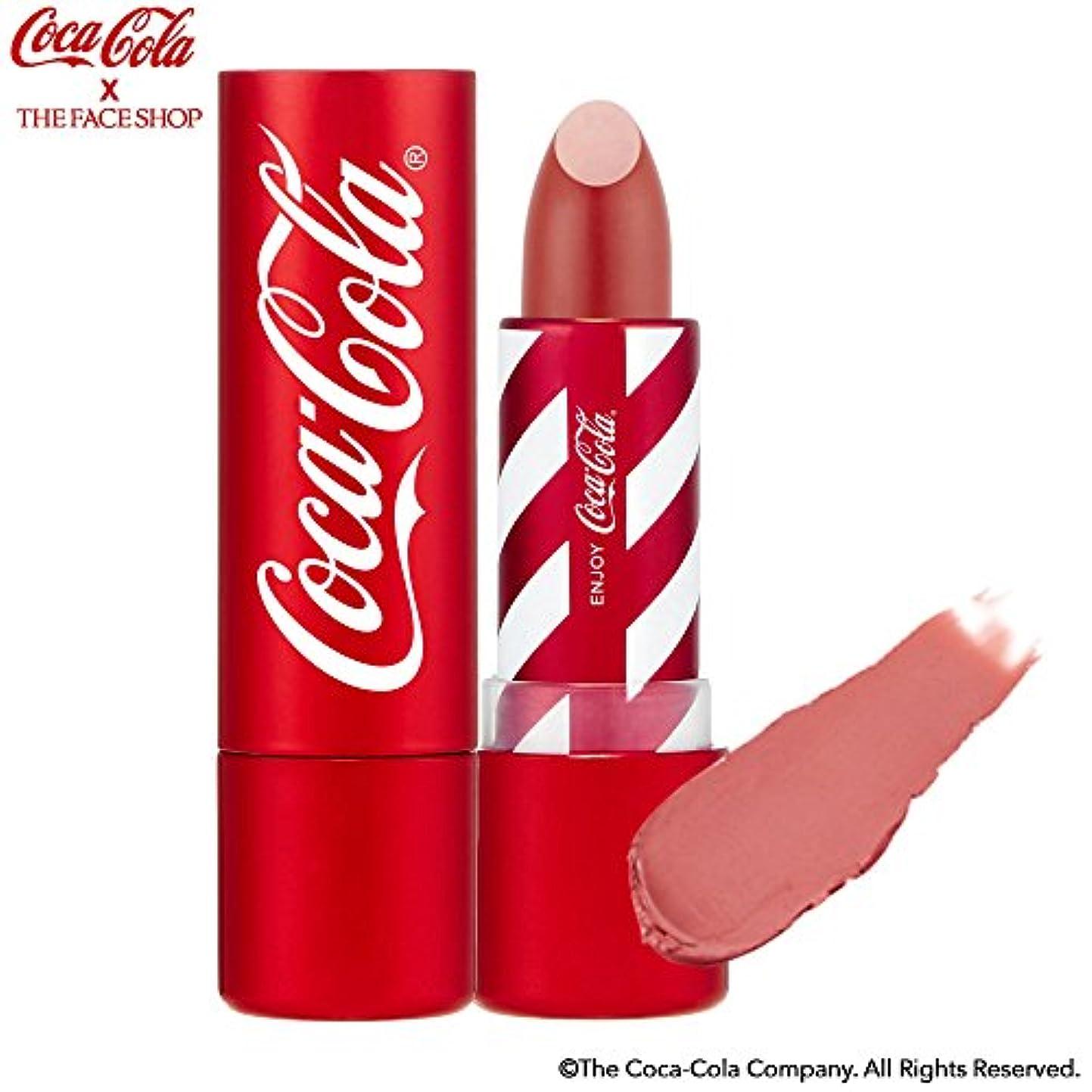 余裕がある乳白色家事[ザ?フェイスショップ] THE FACE SHOP [コカ?コーラ リップスティック 3.5g 限定版] (Coca Cola Lipstick 3.5g Limited Edition) [海外直送品] (01. リフレシング...