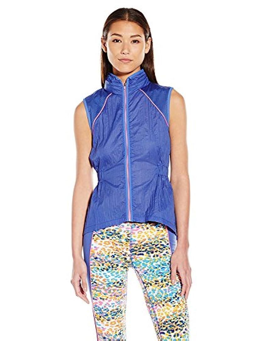 証明達成施しJuicy Couture Black Label Women's Crinkle Nylon Running Vest Rio Blue X-Small [並行輸入品]