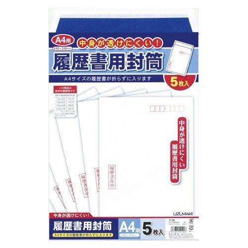 菅公工業 履歴書用封筒 A4用 フ100 00015213 【まとめ買い10束セット】