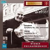 ウィーン・フィル / マーラー生誕百年記念祭 ~ シューベルト : 交響曲 第8番 「未完成」 | マーラー : 交響曲 第4番 他 (Schubert : Symphony No.7(8) ''Unfinished'' | Mahler : Symphony No.4, Des Knaben Wunderhorn, Ruckert-Lieder / Bruno Walter, Wiener Philharmoniker) (2CD)
