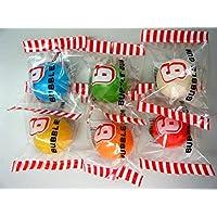 【6色セット】超 ビッグ バブルガム big (直径約33mm) 超ビッグなバブルガムが登場! ギンガムチェックのかわいい袋入りで全部で六色。