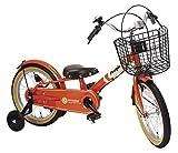 People(ピープル) ピッタンコ自転車 Mark2 16インチ [サイレント補助輪] ブラッドオレンジ YGA275