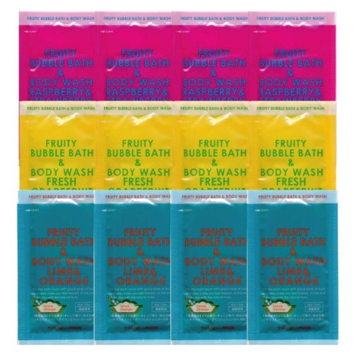 粘液カロリーどこでもフルーティーバブルバス&ボディウォッシュ 3種類×4 12個