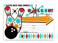 bowling party invitations 10 invitations 10 envelopes by pop