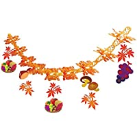 秋の装飾 かご盛り味覚ガーランド L180cm 9882