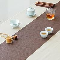 竹のテーブルマット 竹テーブルランナー、レトロナショナルスタイルプリント竹マットテーブルマットティートレイアクセサリー ( 色 : A , サイズ さいず : 30*120CM )