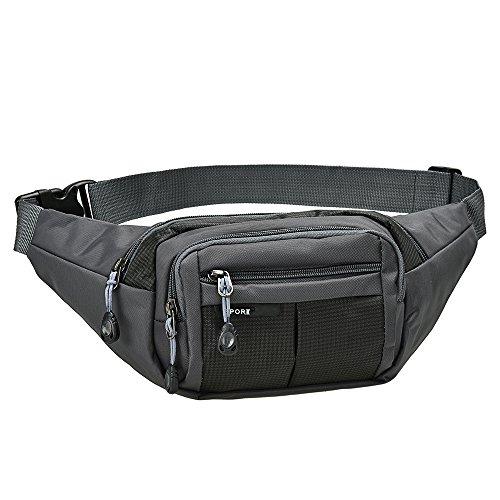 ウエストバッグ ウエストポーチ JoinValue ヒップバッグ メンズ 大容量 多機能 ボディバッグ 防水 iPhone 7 Plus/6S Plus/財布等収納可能 四つのポケット