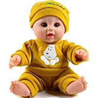 Tusalmo おもちゃ人形 12 インチ子供のおもちゃ、ビニール体赤ちゃん人形専門のおもちゃドール メーカーからの女の子のため (黄色)