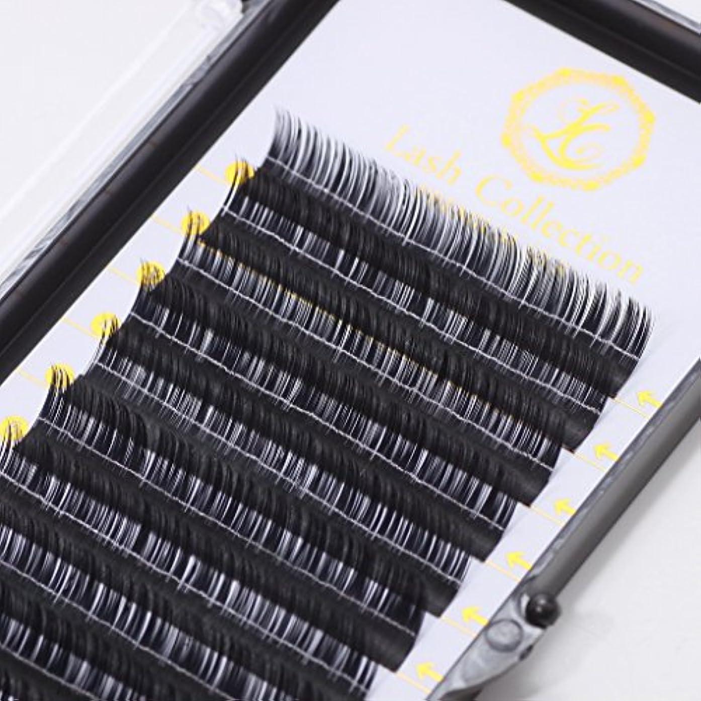 有彩色のペレグリネーションスタイルLash Collection サロン監修 セルフ用 シングルラッシュ セーブル Cカール 12mm