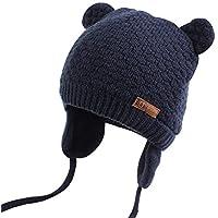 XIAOHAWANGベビーニット帽 赤ちゃん 女の子 男の子 耳保護付き 綿 無地 柔らかい 暖かい かわいい 防風・防寒・保温 春 秋 冬 …