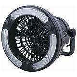 COM-SHOT 【 1台2役 】 小型 ワイヤレス 扇風機 吊り下げ & スタンド 式 キャンプ レジャー アウトドア 【 LED ライト 付き 】 MI-CAFA