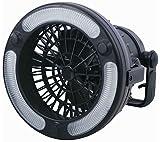 1stモール 【 吊り下げ & スタンド 】 多機能 扇風機 LEDライト付き 電池式 キャンプ レジャー ST-CAFA