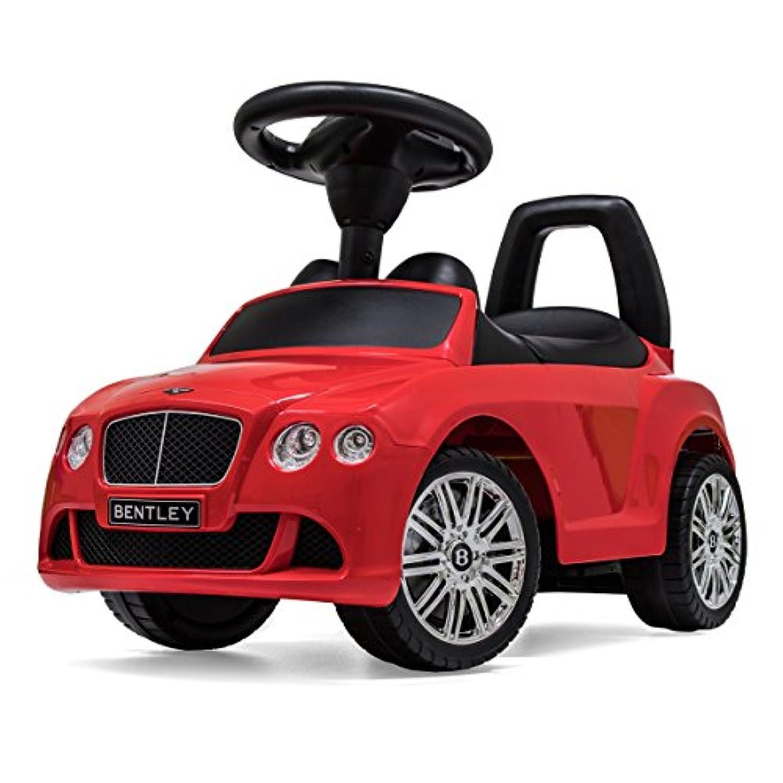 ベントレー公認 正規ライセンス 乗用玩具 [Continental GT SpeedConvertible] 【レッド】 足けり 転倒防止ストッパー 背もたれ シート開閉 収納 多機能ハンドルで音楽