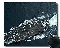 ステッチエッジ付きマウスパッド、軍用USS Theodore Roosevelt(CVN 71)軍艦滑り止めラバーゲームマウスパッド
