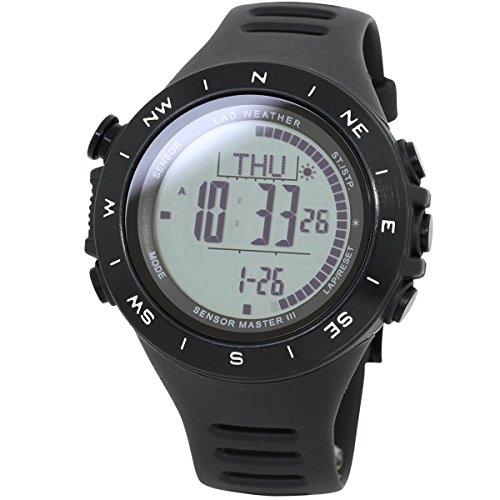 [ラドウェザー] 腕時計 高度計/気圧計/温度計 距離/速度/歩数/運動時間/消費カロリー スマートラップ 登山/山登り ランニングウォッチ デジタル時計