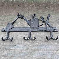 KTYX ヨーロッパとアメリカの庭の鉄の壁の装飾6フック コートハンガー