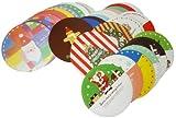 30種類 ! 丸型 クリスマスカード 30枚セット シール 封筒 付き AmanoSongオリジナル30枚セット (A304) Xmas クリスマス カード プレゼント グリーティングカード レター 手紙 リース サンタクロース サンタ スノーマン 雪だるま 装飾 飾り オーナメント インテリア クリスマスパーティー