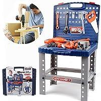 おもちゃツールワークベンチfor Kids Pretend Play – ConstructionワークショップToolbench Stem building toysリアルなツールと電動ドリルで