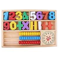 T TOOYFUL 計算フレーム 数字ブロック クロック 木製 数学 おもちゃ 数学学習玩具