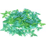 Perfk 約100枚 紙吹雪 バタフライ 蝶 お祝い 写真小物 3色選べる - 緑