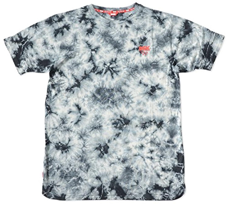フォーマルサージ服を片付けるDGK ディージーケー Tシャツ 半袖 総柄 タイダイ スリット 袖同色ダブルライン