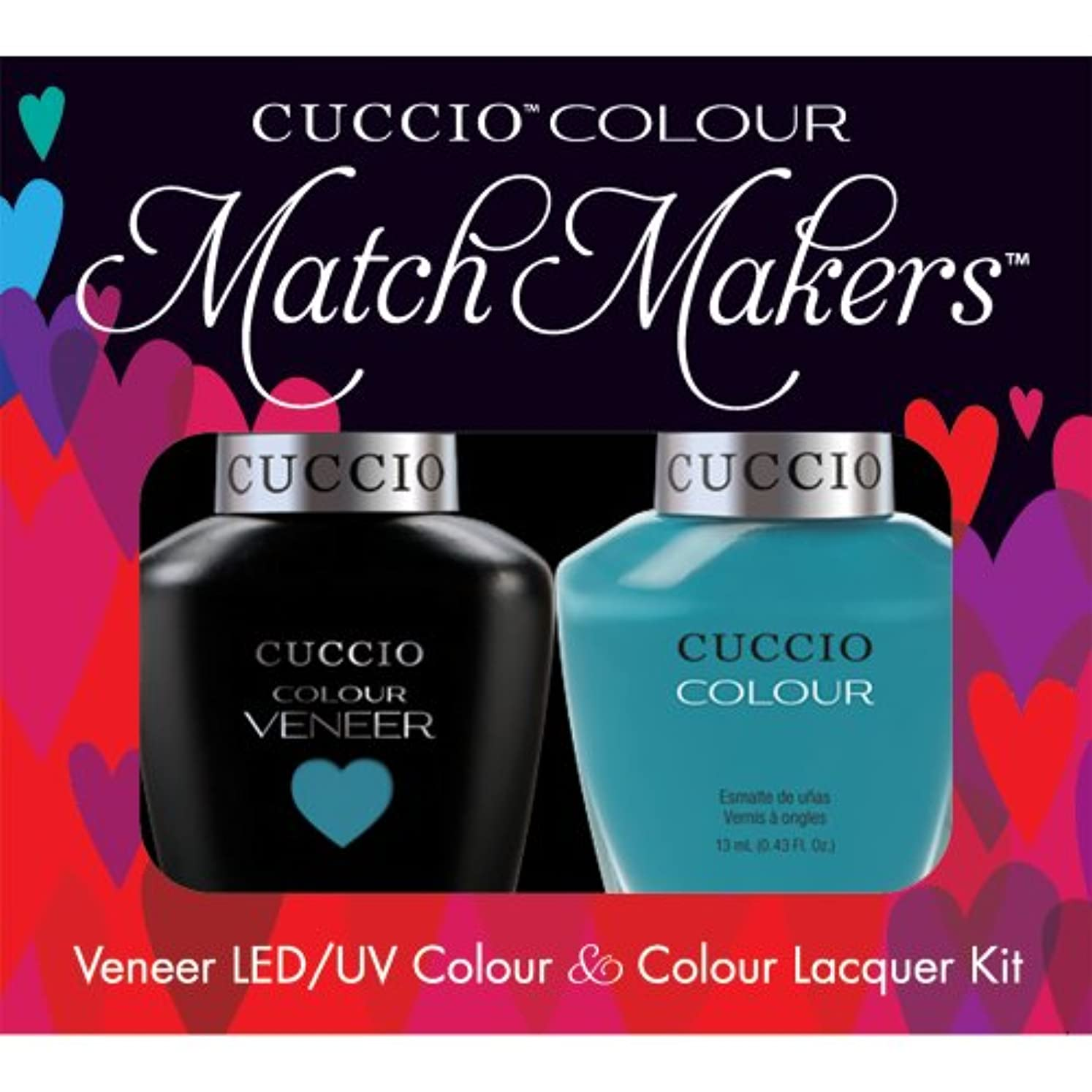 踏み台オーストラリア語Cuccio MatchMakers Veneer & Lacquer - Grecian Sea - 0.43oz / 13ml Each