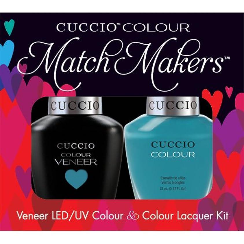 ビリー回転する音声学Cuccio MatchMakers Veneer & Lacquer - Grecian Sea - 0.43oz / 13ml Each