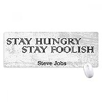 スティーブ・ジョブスからの引用 ノンスリップゴムパッドのゲームマウスパッドプレゼント