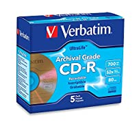 Verbatim 700 MB 52x UltraLife Archival Grade Gold Recordable Disc CD-R, 5-Disc Jewel Case 96319 [並行輸入品]