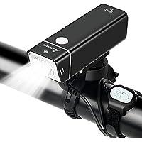 ATARAXIA 自転車ライト【2018最新版】高輝度ロードバイクライト 2500mah 5点灯モード IPX6防水 200メートル以上照射 ワイヤードリモコン付き 自転車ライトUSB充電式