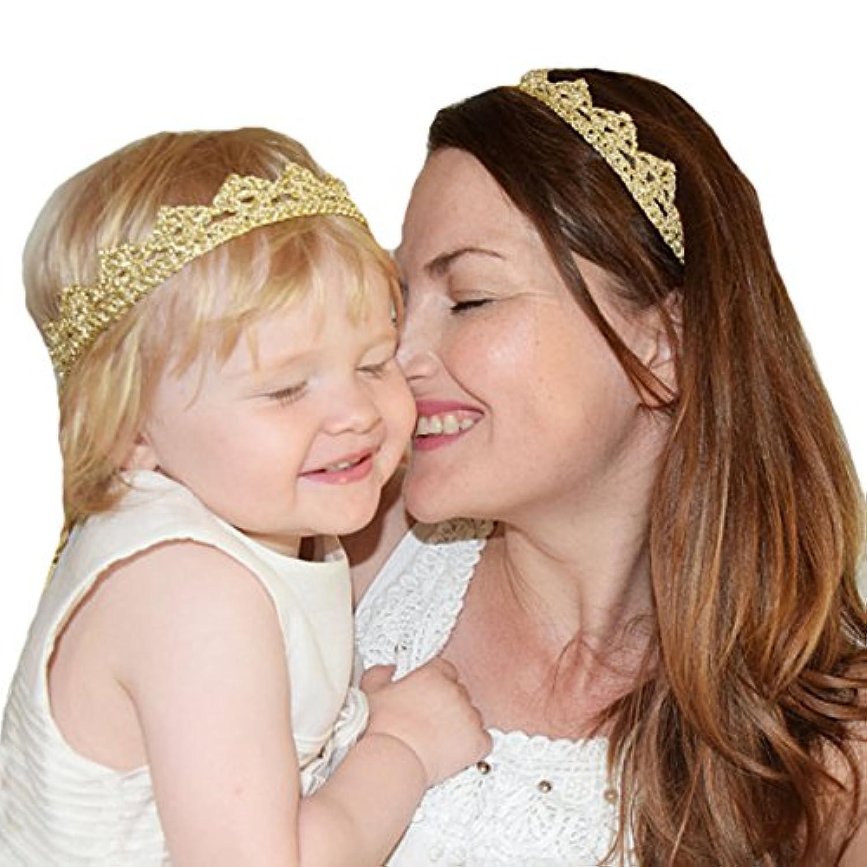 miugle赤ちゃんとお母さんゴールドクラウンヘッドバンドセット