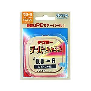 ゴーセン(GOSEN) ライン テクミーPEテーパー 力糸 13m×2本継 赤 0.8号~~6号 GT-490R~