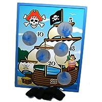 Wooden Pirate Ship Bean Bag Toss Game