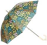 [ムーンバット] estaa×PIKKU SAARI 晴雨兼用(UV遮蔽99% 遮光99% 以上) Parveke スライドショート式 長傘 31-231-30007-06 レディース オレンジ 日本 親骨の長さ47cm (Free サイズ)